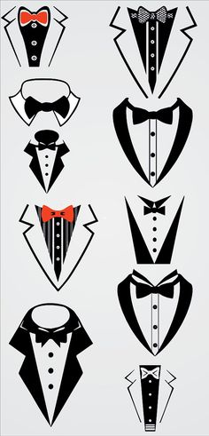 Tuxedo Bow Tie Tuxedo Formal Bib Bow Tie SVG and by Dxfstore