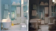 IKEA: Family bathroom or grown-up's retreat? Have both!