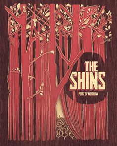 "Poster for ""The Shins"" contest curated by Creative Allies in 2011. Designed in collaboration with Paula Guzman www.behance.net/g..."