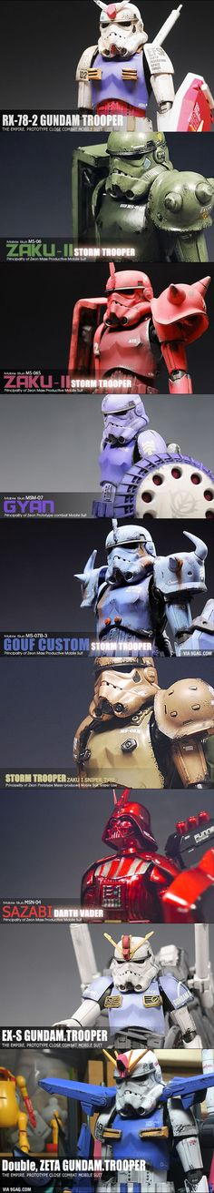 These are cool, but I wonder what idiot thought the Gyan's model number was MSM-07 instead of YMS-15.