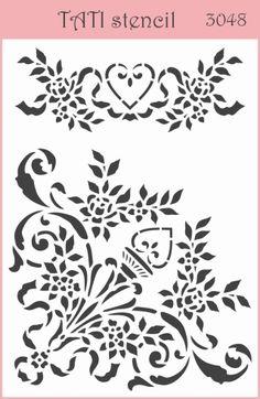 Трафарет гибкий TATI stencil 3048