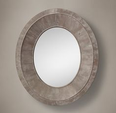 Salvaged Oval Pieced Mirror - hang horizontal at entry