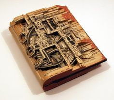 book sculpture