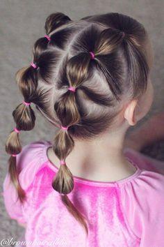 Çocuk Saç Modelleri Lastikli Tırtıl Toplama