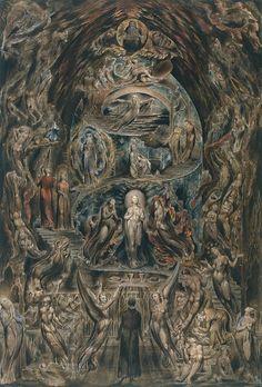 William Blake --   Epitome of James Hervey's 'Meditations among the Tombs' circa 1820-5
