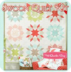 swoon quilt in ruby