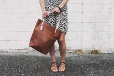 the all leather tote, walnut | Remnant