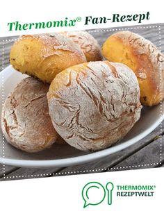 """Süßkartoffel-Brötchen """"Bolo di Caco"""" von Kettwigerin. Ein Thermomix ® Rezept aus der Kategorie Brot & Brötchen auf www.rezeptwelt.de, der Thermomix ® Community."""
