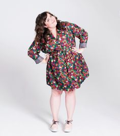 Aidy Bryant wearing her Buried Diamond hands collar clips in Paper Magazine. I love her.