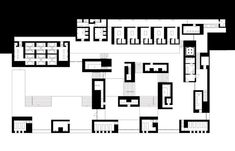 Zumthor, Therme Vals - main floor plan at the baths level Peter Zumthor, Renzo Piano, Thermal Vals, Thermal Hotel, Architecture Concept Drawings, Architecture Plan, Architecture Details, Architectural Drawings, Louis Kahn