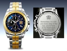 U.S. Navy For My Sailor Chronograph Mens Watch