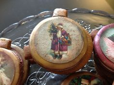 Paso a Paso, decoracion galletas de Navidad Vintage con papel de azucar