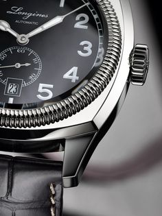Longines Heritage 1935 watch dial detail