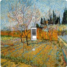 "Rikki KnightTM Van Gogh Art Painter - Single Toggle Light Switch Cover by Rikki Knight. $13.99. The Van Gogh Art Painter single toggle light switch cover is made of commercial vibrant quality masonite Hardboard that is cut into 5"" Square with 1'8"" thick material. The Beautiful Art Photo Reproduction is printed directly into the switch plate and not decoupaged which make these Light Switch Plates suitable for use in any room in the office, home, etc. etc.. These Lig..."