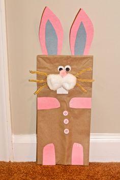 easter craft for kids easter bunny paper bag puppet easter