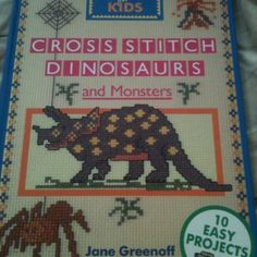 Dinosaurs and monsters cross stitch pattern book
