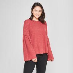 d9438adf57 Women s Bell Sleeve Sleep T-Shirt - Xhilaration Burgundy XS