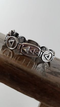 Triangle bracelet sterling silver bracelet triple triangle vintage silver bracelet mother of pearl triangle bracelet 925 585 sz 7 1/4 OT2523 by Andiesvintage on Etsy