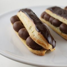 Chocolate Eclairs With Thick Ganache For French Fridays With Dorie