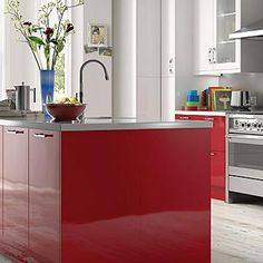Cooke Lewis High Gloss Red Kitchen From B