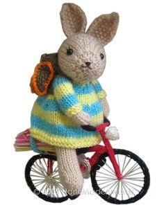 Softie rabbit on a softie bike