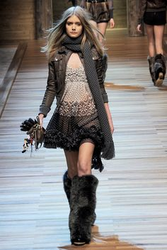 D & G Fall 2010 RTW, I love all the different textures
