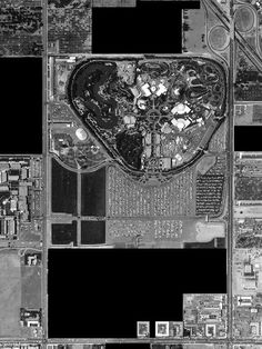 Undeveloped land (in black) controlled by Disney in 1960.