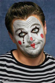 Photoshop Design by hcheyne Creepy Clown Makeup, Circus Makeup, Scary Clown Mask, Scary Clowns, Es Der Clown, Le Clown, Clown Faces, Circus Clown, Maquillage Halloween