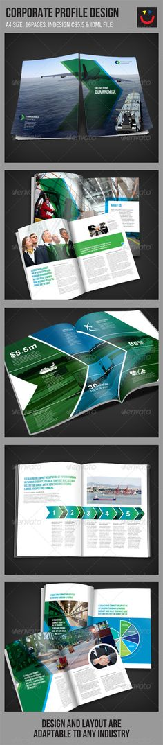 A brochure design template for Logistics Company