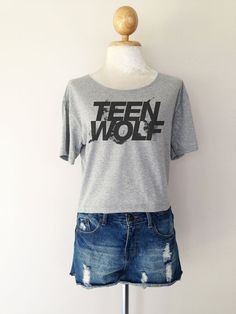 Teen Wolf Logo Series Women Top Wide Crop T-shirt Fashion on Etsy, $14.99