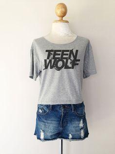 Teen Wolf Logo Series Women Top Wide Crop T-shirt Fashion on Etsy, $14.99