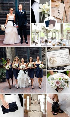 classic Midnight + Gray + Ivory    Good for: Classic ballroom weddings    Tips for pulling it off: Everyone and everything looks elegant dressed up in this color palette. Bring texture to your decor with lace or ruffles to give this demure trio a hint of sass.    Read more: Wedding Color Palettes We Love - Wedding Colors - TheKnot.com - TheKnot.com http://wedding.theknot.com/wedding-colors/choosing-wedding-colors/articles/wedding-color-palettes-we-love.aspx?page=13#ixzz1YBXgby00