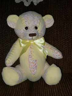 Memory Bear from quilts or clothing by BearsandBuddies on Etsy, $27.00