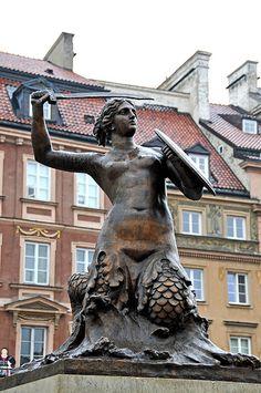 Warsaw Mermaid's Statue