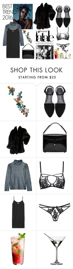 """""""Best trend 2016: strap dresses"""" by elinebarhaug ❤ liked on Polyvore featuring Marchesa, Marc Jacobs, Cédric Charlier, Agent Provocateur, Equipment and Riedel"""