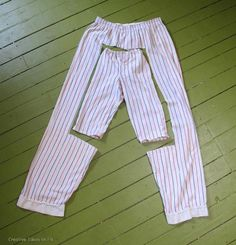 Reuse clothes. A man's pajama pants –> child's *or similar*