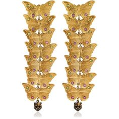 Gucci Women Statement Butterfly Earrings ($535) ❤ liked on Polyvore featuring jewelry, earrings, gold, gucci earrings, gucci, gucci jewellery, earring jewelry and monarch butterfly jewelry
