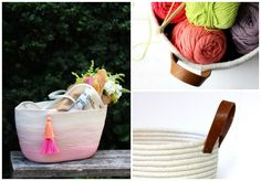Cómo hacer una cesta de cuerda