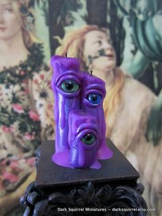 Zombie Eye Candles OOAK dollhouse miniature in one by DarkSquirrel