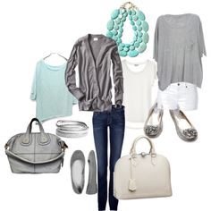 grey & turquoise. love