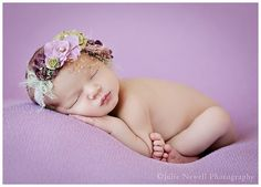 Chicago Newborn Photographer Purple newborn photos baby girl newborn photography