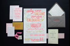 Neon invitation set, totally stunning!