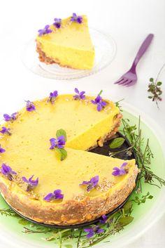 Ciasto bez białego cukru. Wegańska tarta z mango. http://dolcevitainmykitchen.blogspot.de