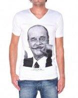 T-Shirt Eleven Paris Jacques Chirac porté par Kendji Eleven Paris, Famous French, Parisian Style, T Shirt, Mens Tops, People, Fashion, Men Styles, Supreme T Shirt