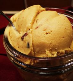 Maple Bacon COCONUT MILK Ice Cream recipe.     (You can either use all maple syrup, if you're being strict on refined sugars, or part maple/part brown sugar. Either way: dairy-free WOW.)