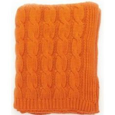 this pop of orange would look great with pink | 50 X 60 Throw $125