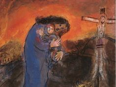 Marc Chagall - 1945, Mexican crucifixion