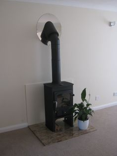Clearview Pioneer in metallic black - sitting on a marble hearth in a light and airy renovated house near to Farnham Station, Surrey. Stove Fireplace, Fireplace Design, Clearview Stoves, Marble Hearth, Lounge Design, Log Burner, Gas Stove, Wood Burning, Hearths