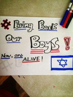 BRING BACK OUR BOYS  #bringbackourboys #bbob #eyalgilagnaftali