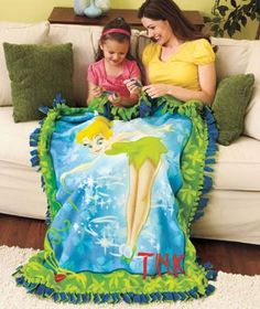 Disney TINKERBELL No-Sew Throw Kits.....LOVE no-sew kits! I have like 8